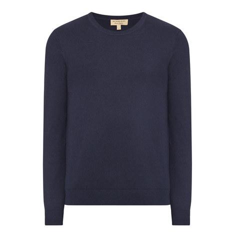 Richmond Cashmere Elbow Patch Sweater, ${color}