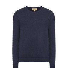 Richmond Cashmere Elbow Patch Sweater