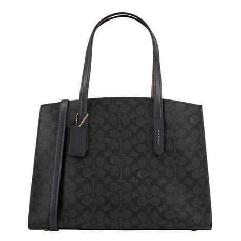 Charlie Signature Canvas Handbag, ${color}
