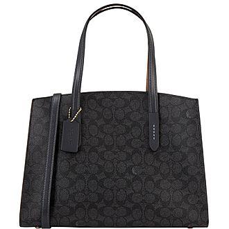 Charlie Signature Canvas Handbag