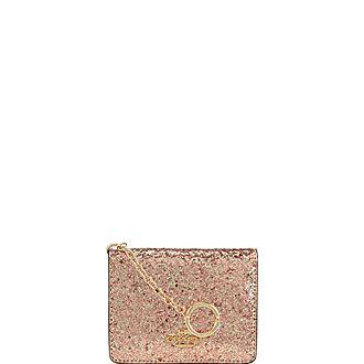 Glitter Key Ring Card Holder
