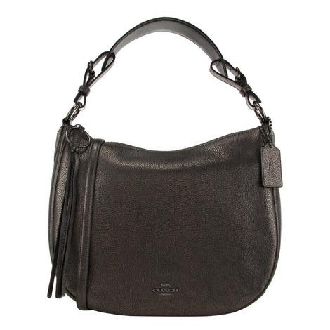Metallic Sutton Hobo Bag, ${color}