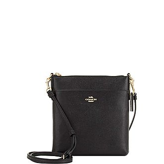 Logo Top Zip Crossbody Bag