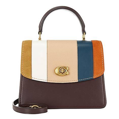 Parker Stripe Shoulder Bag, ${color}