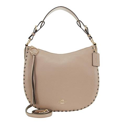 Scalloped Sutton Hobo Shoulder Bag, ${color}