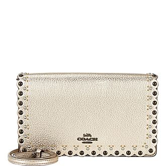 Hayden Scallop Rivet Shoulder Bag