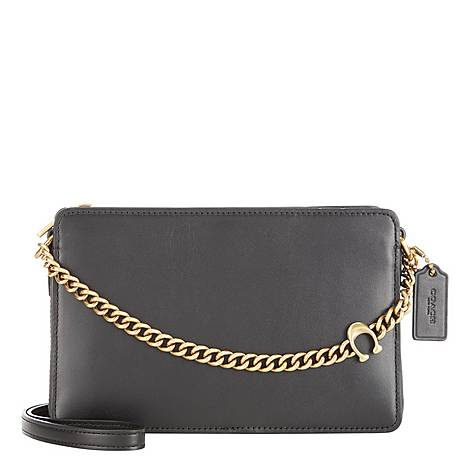 Signature Chain Crossbody Bag, ${color}