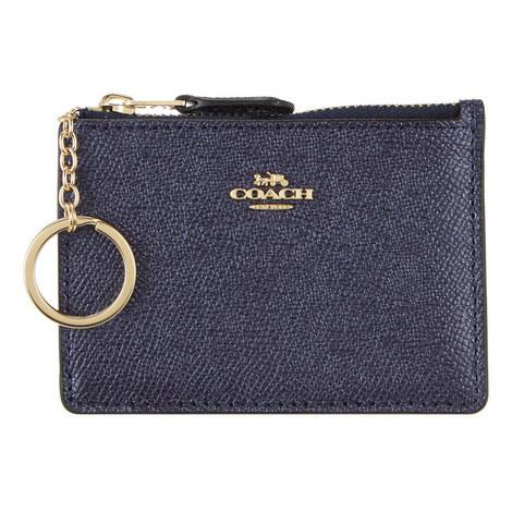 Textured Key Ring Card Holder, ${color}