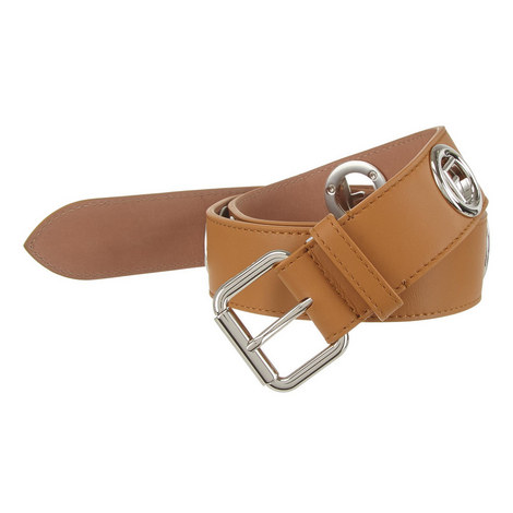 Fendi Belts F Logo Caramel, ${color}