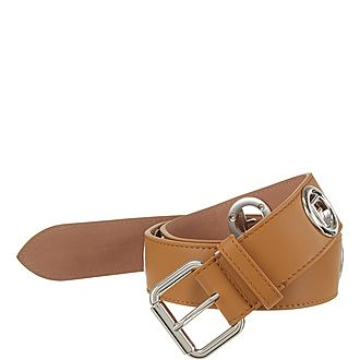 Logo Studded Belt
