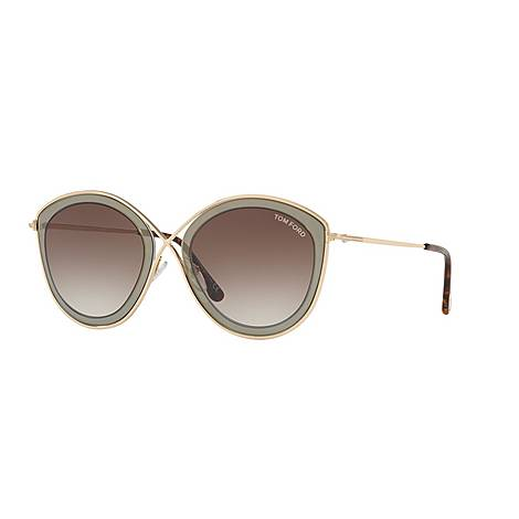 Cat Eye Sunglasses FT0604 55, ${color}