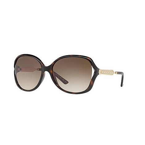 Round Sunglasses GG0076S 60, ${color}