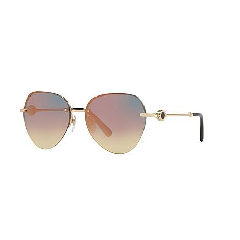 Aviator Sunglasses BV6108 58, ${color}