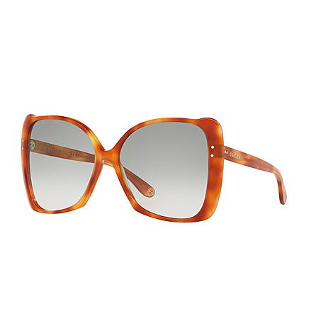 Havana Rectangular Sunglasses GG0471S, ${color}