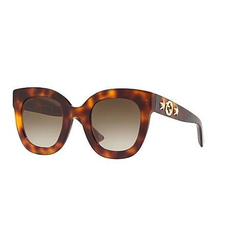 Havana Oval Sunglasses GG0208S, ${color}