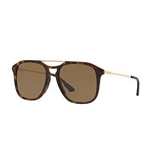 Havana Aviator Sunglasses GG0321S