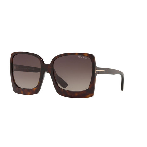 Tortoise Square Sunglasses FT0617, ${color}