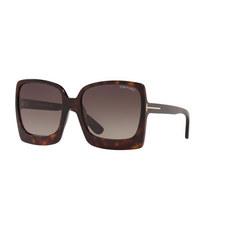 Tortoise Square Sunglasses FT0617