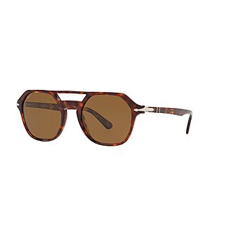Havana Irregular Sunglasses 0PO3206S