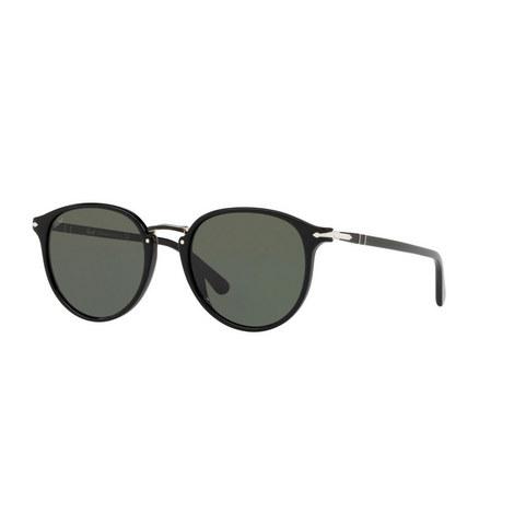 Round Semi-Metal Sunglasses PO3210S, ${color}