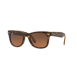 Havana Wayfarer Square Sunglasses