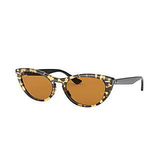 Havana Cat Eye Sunglasses 0RB4314N