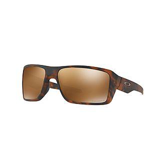 Havana Double Edge Rectangle Sunglasses