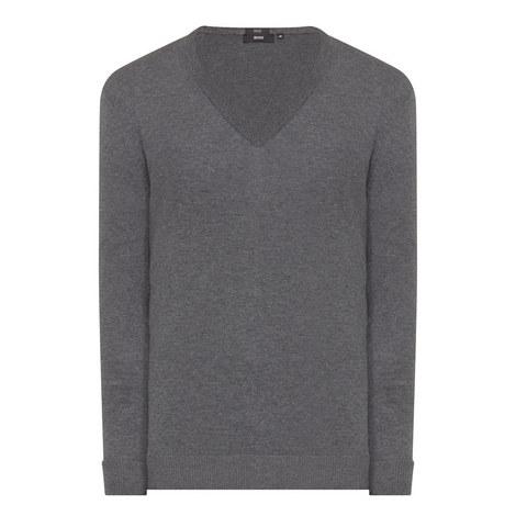 Fabbert Knitted V-Neck Sweater, ${color}