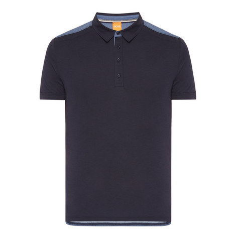 Pyntax Contrast Polo Shirt, ${color}