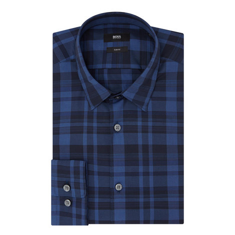 Reid Slim Fit Check Shirt, ${color}