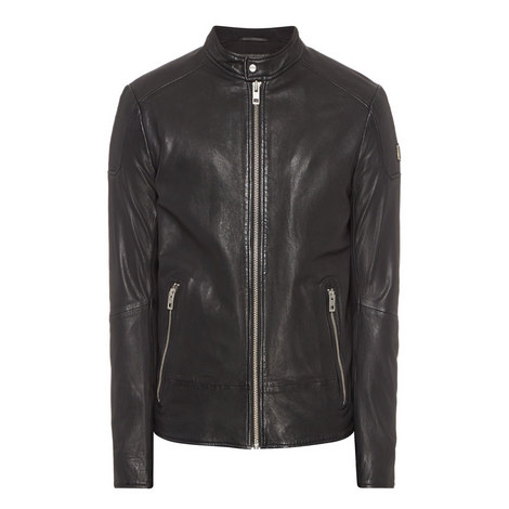 Jofynn Biker Leather Jacket, ${color}