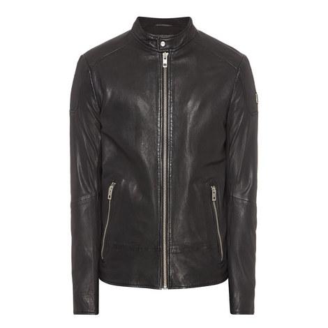 Jofynn Biker Leather Jacket, ${color}