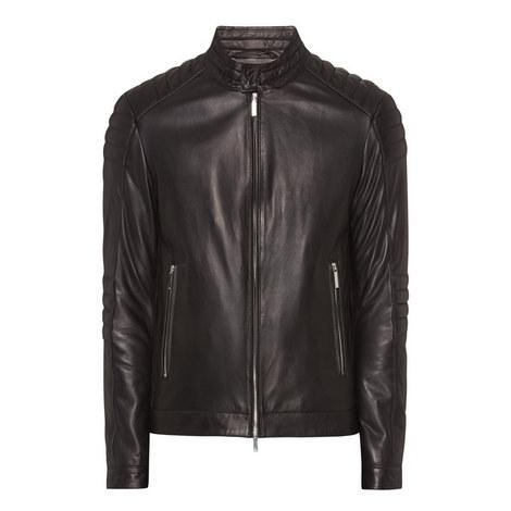 Narveyn Biker Leather Jacket, ${color}