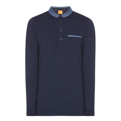 Patcherman Long Sleeve Polo Shirt, ${color}