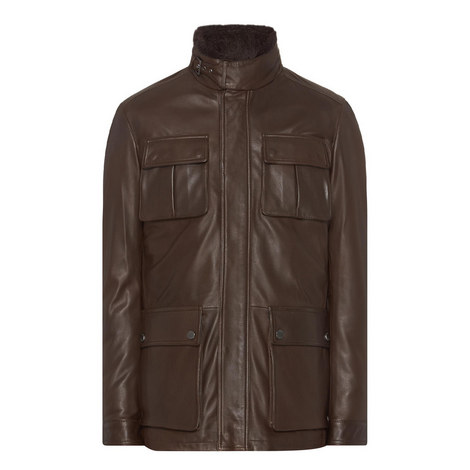 Gambu Leather Field Jacket, ${color}