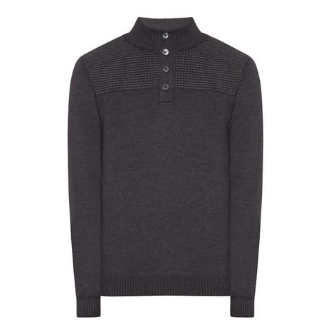 Balcos Button Neck Sweater, ${color}