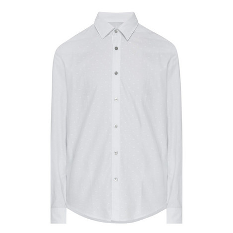 Lukas Textured Dot Print Shirt, ${color}
