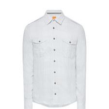 Washed Dual Pocket Shirt