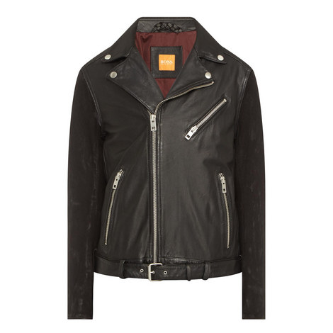 Jetz Leather Biker Jacket, ${color}