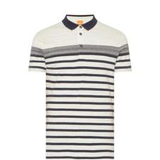 Promo Stripe Pattern Polo Shirt