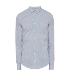Stripe and Dot Print Shirt