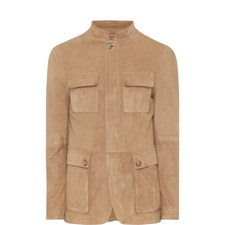 Buttoned Suede Jacket