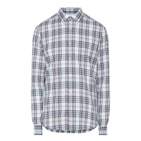 Lance Large Check Print Shirt, ${color}