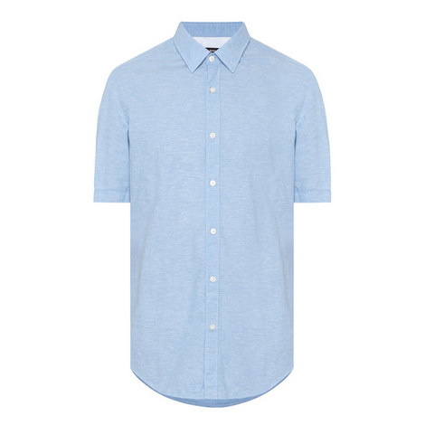 Luka Short Sleeve Linen Shirt, ${color}