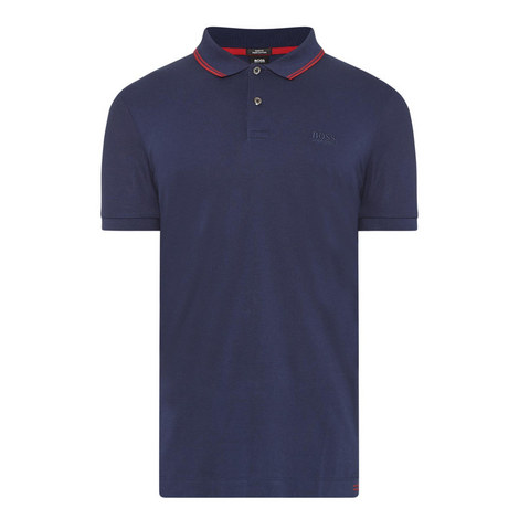 Phillipson Stripe-Tipped Polo Shirt, ${color}