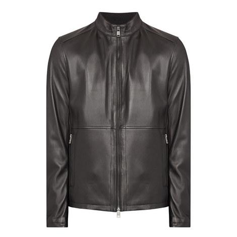 Nabino Leather Biker Jacket, ${color}