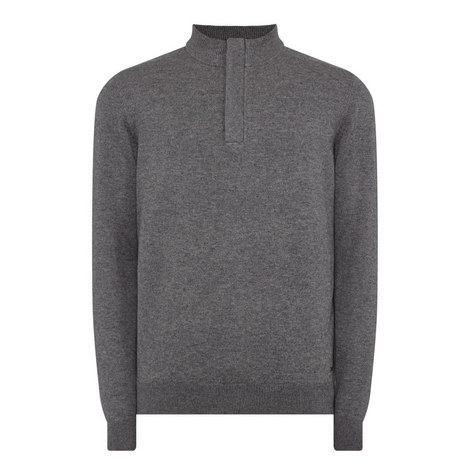 Napoleone Concealed Half-Zip Sweater, ${color}
