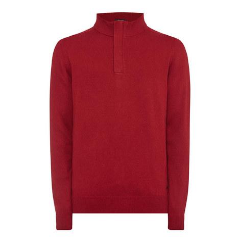 Napoleone Concealed Half-Zip Sweater, ${color}