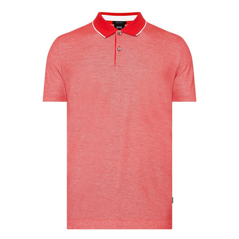Piket Stripe-Trim Polo Shirt, ${color}