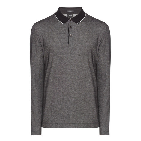 Pearl Contrast Collar Polo Shirt, ${color}